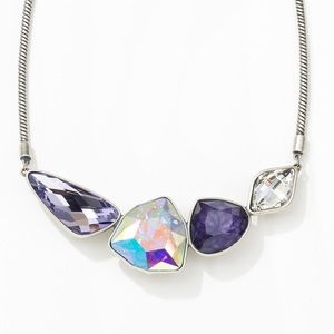 Touchstone Crystal Purple sky necklace